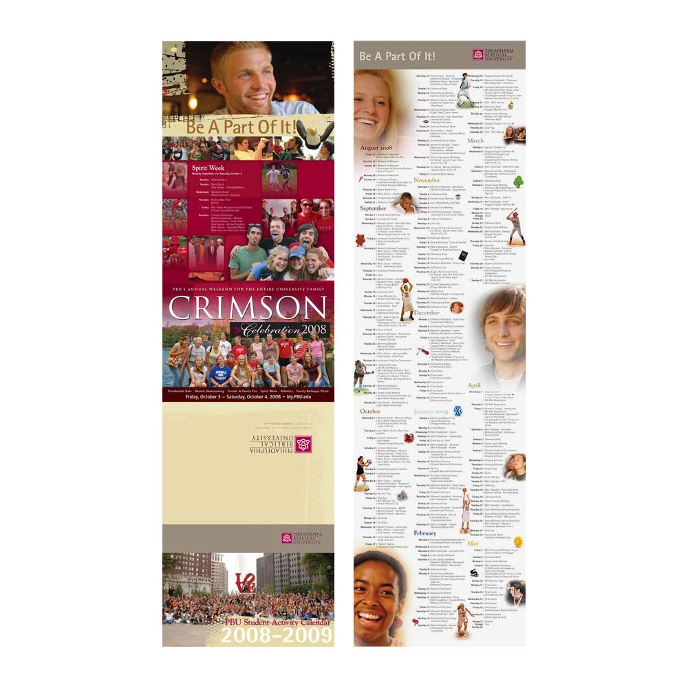 PBU Student Life Calendar 2008-2009