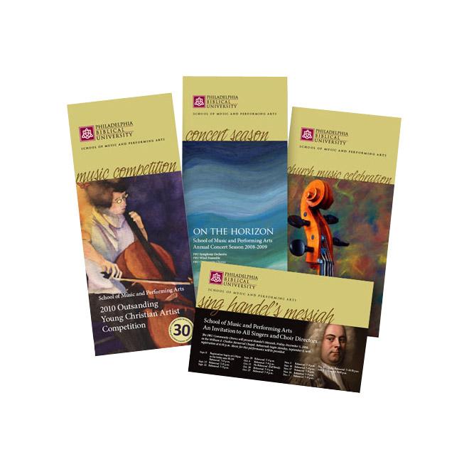 PBU concert season brochure
