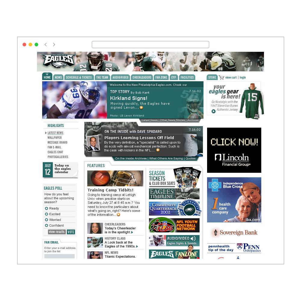 Philadelphia Eagles Web Site